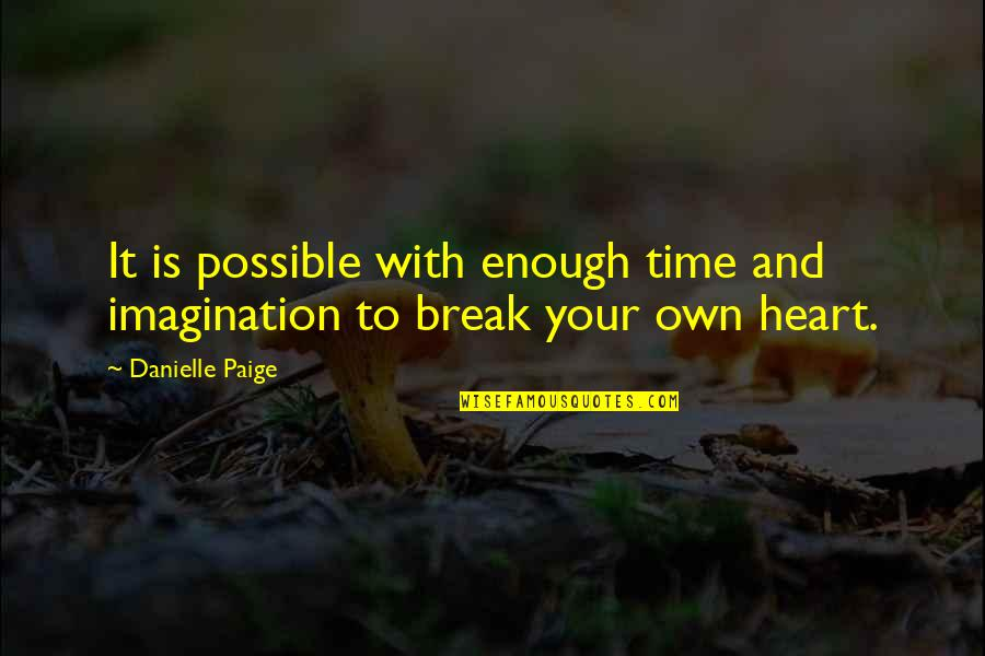 Definition Of Leadership Quotes By Danielle Paige: It is possible with enough time and imagination