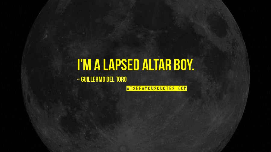 Del Boy Quotes By Guillermo Del Toro: I'm a lapsed altar boy.