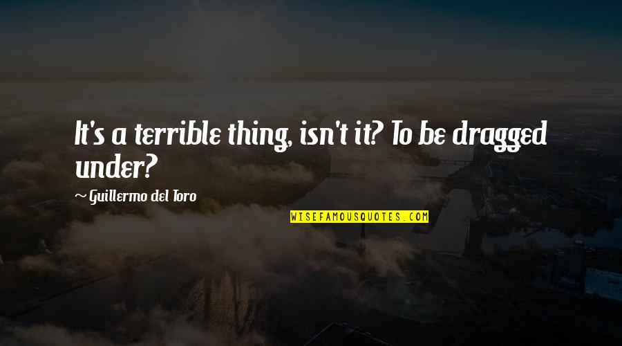 Del Toro Quotes By Guillermo Del Toro: It's a terrible thing, isn't it? To be