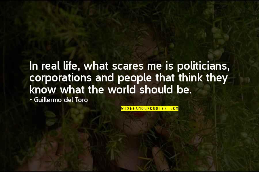 Del Toro Quotes By Guillermo Del Toro: In real life, what scares me is politicians,