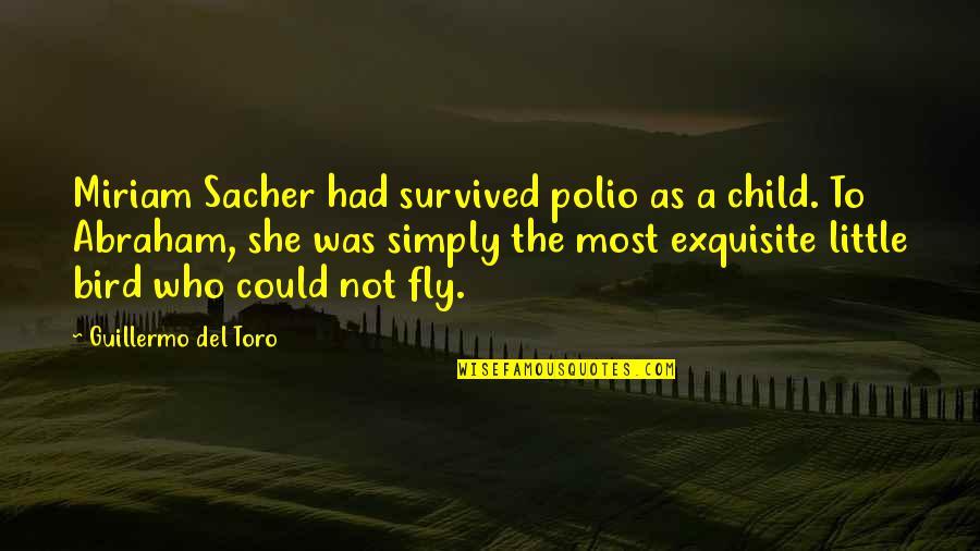 Del Toro Quotes By Guillermo Del Toro: Miriam Sacher had survived polio as a child.