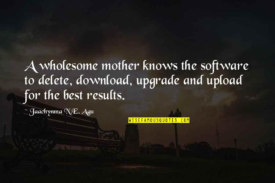 Delete Quotes By Jaachynma N.E. Agu: A wholesome mother knows the software to delete,