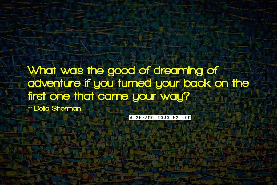 Delia Sherman quotes: What was the good of dreaming of adventure if you turned your back on the first one that came your way?