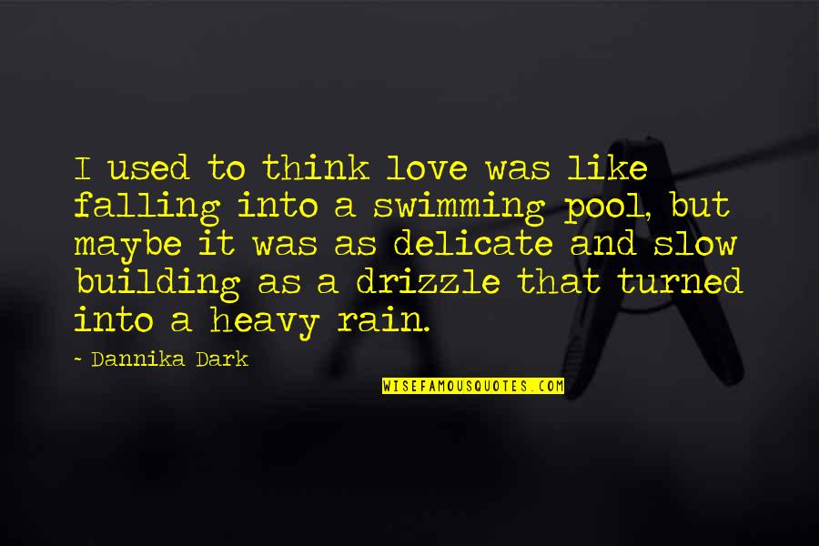 Delicate Love Quotes By Dannika Dark: I used to think love was like falling