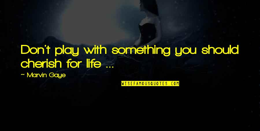 Delphic Quotes By Marvin Gaye: Don't play with something you should cherish for