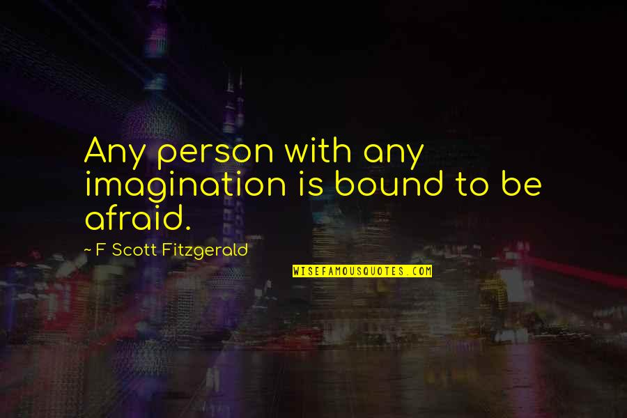 Demi Harman Quotes By F Scott Fitzgerald: Any person with any imagination is bound to