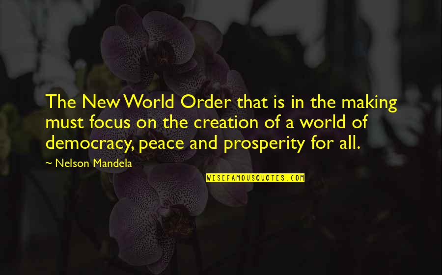 Democracy Now Quotes By Nelson Mandela: The New World Order that is in the