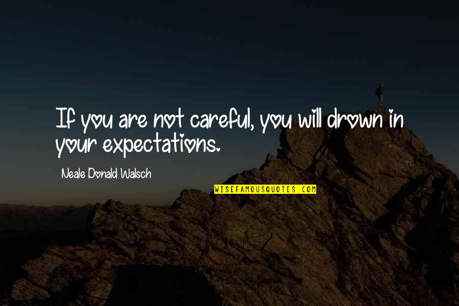 Democratic Vistas Quotes By Neale Donald Walsch: If you are not careful, you will drown