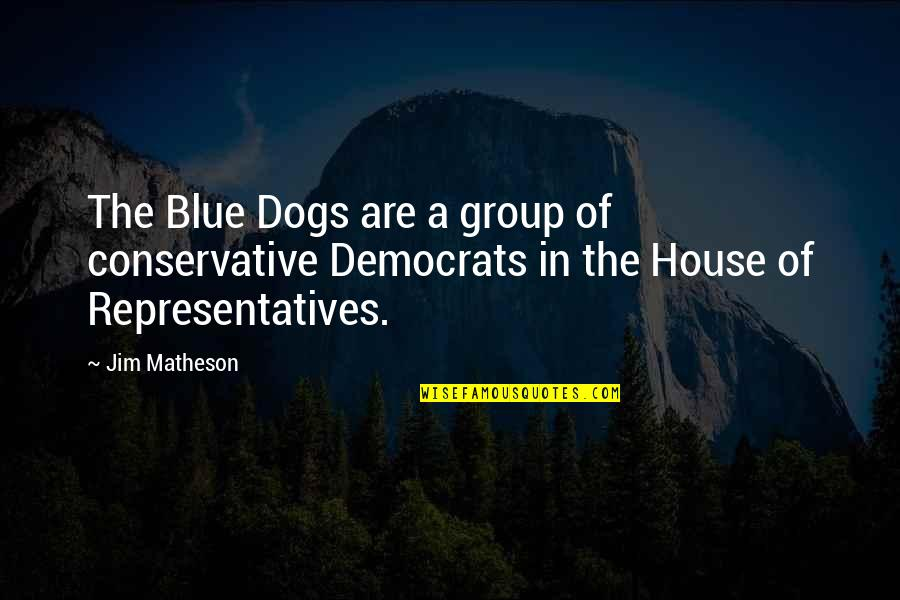 Democrats Quotes By Jim Matheson: The Blue Dogs are a group of conservative