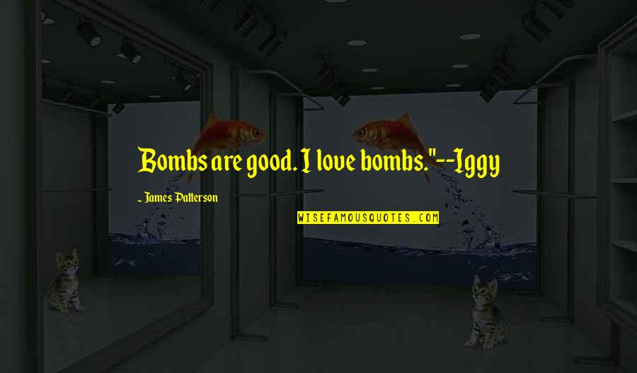 """Demonetized Quotes By James Patterson: Bombs are good. I love bombs.""""--Iggy"""