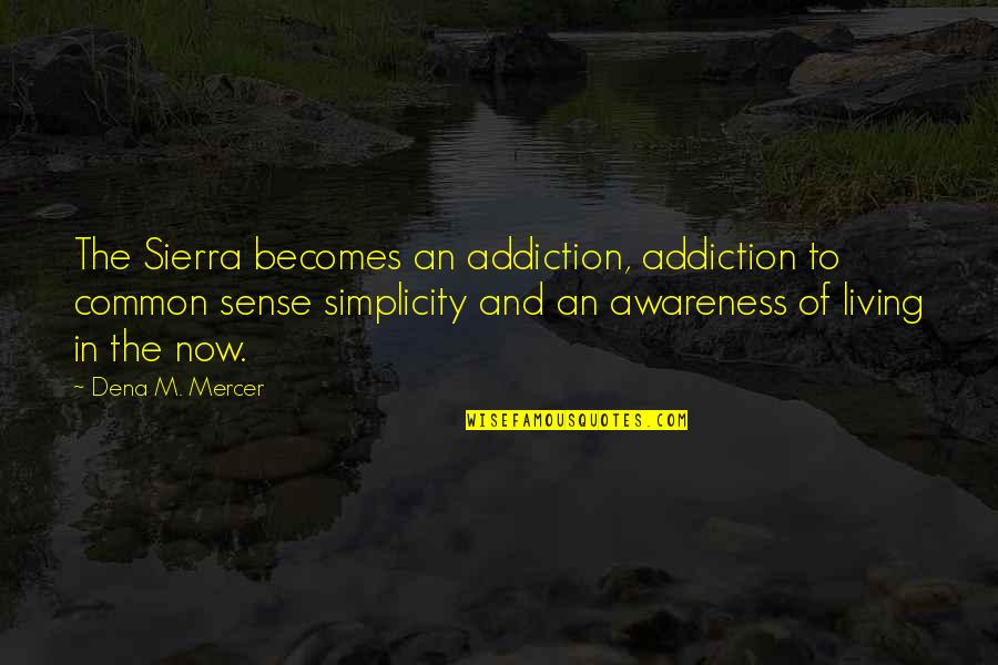 Dena's Quotes By Dena M. Mercer: The Sierra becomes an addiction, addiction to common