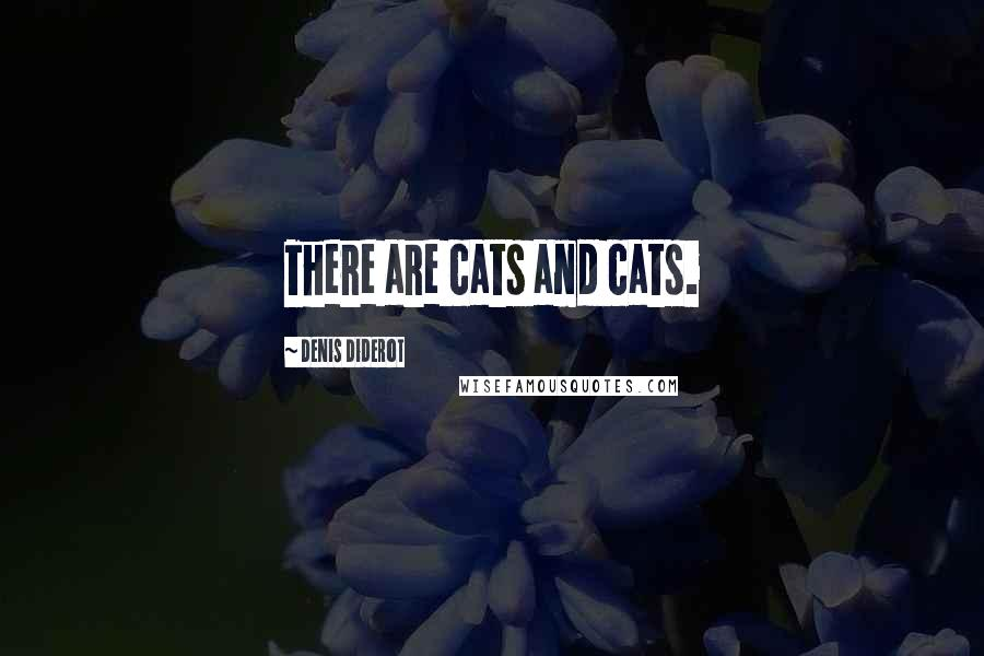 Denis Diderot quotes: There are cats and cats.