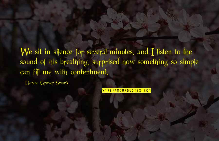 Denise Grover Swank Quotes By Denise Grover Swank: We sit in silence for several minutes, and
