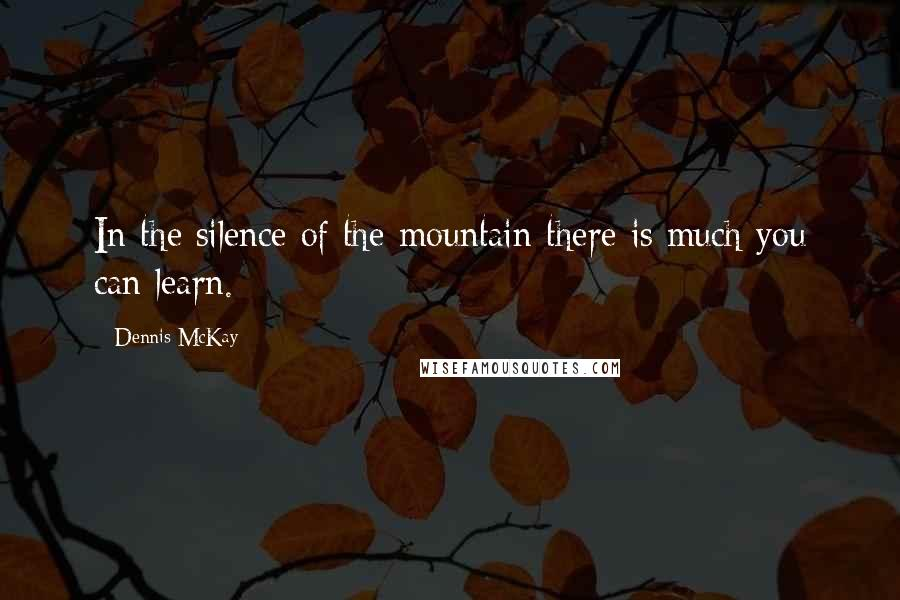 Dennis McKay quotes: In the silence of the mountain there is much you can learn.