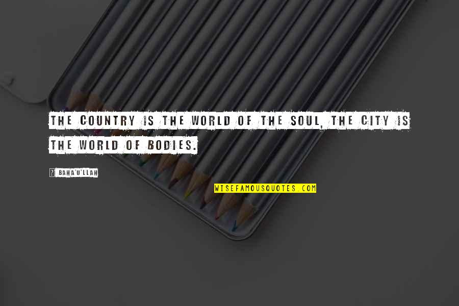 Dependable Business Quotes By Baha'u'llah: The country is the world of the soul,