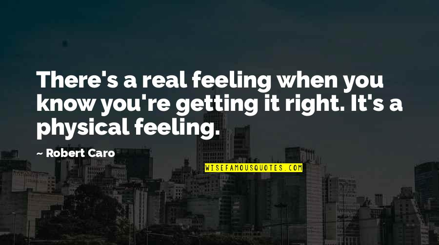 Derek Gervais Quotes By Robert Caro: There's a real feeling when you know you're