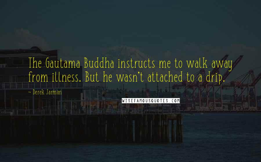 Derek Jarman quotes: The Gautama Buddha instructs me to walk away from illness. But he wasn't attached to a drip.