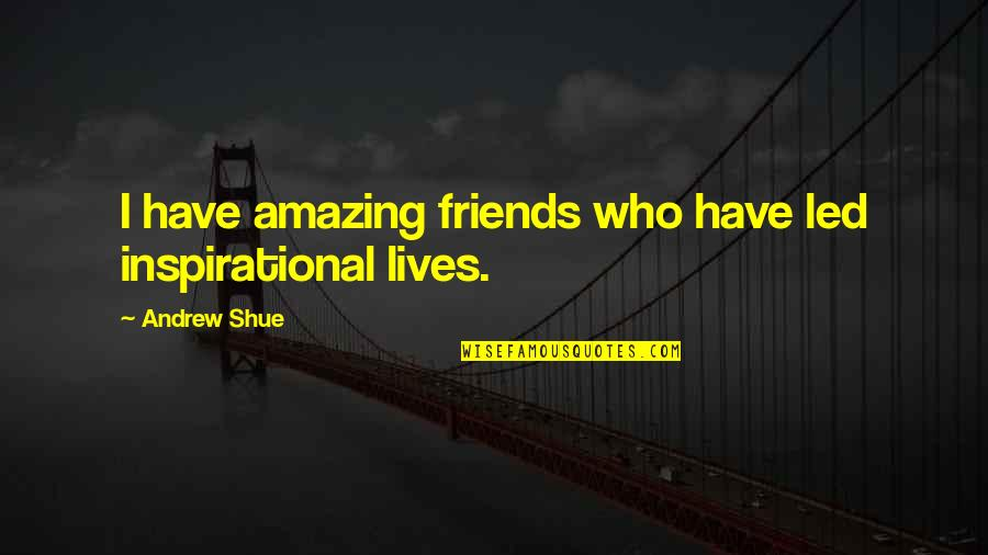 Descendants Band Quotes By Andrew Shue: I have amazing friends who have led inspirational