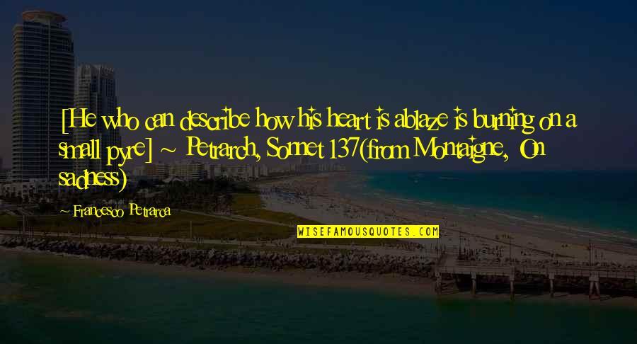 Describe Who You Are Quotes By Francesco Petrarca: [He who can describe how his heart is