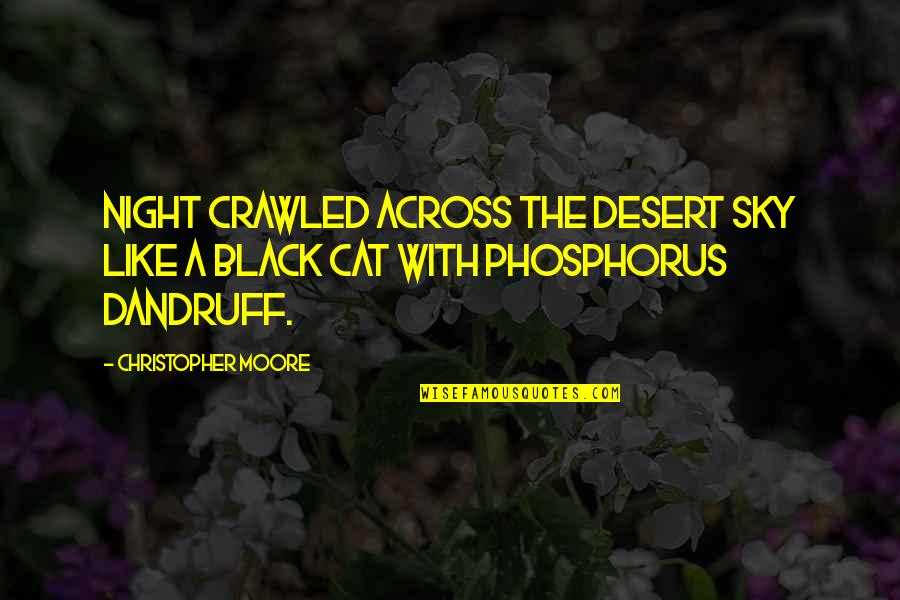 Desert Night Sky Quotes By Christopher Moore: Night crawled across the desert sky like a