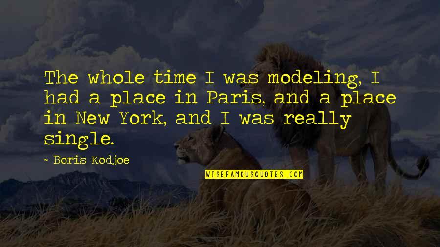 Desiree Movie Quotes By Boris Kodjoe: The whole time I was modeling, I had