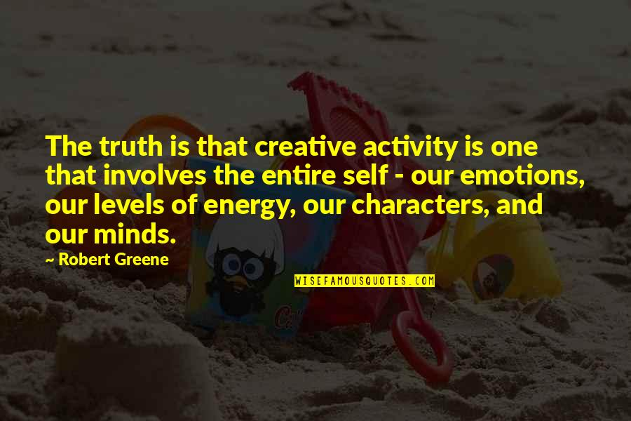 Desmond Hume Quotes By Robert Greene: The truth is that creative activity is one