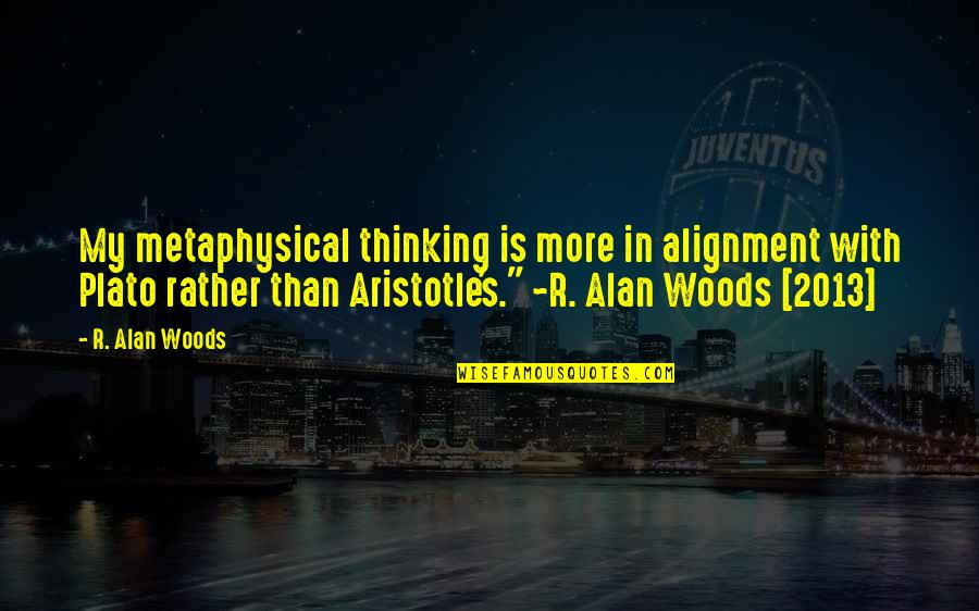 Desolated Quotes By R. Alan Woods: My metaphysical thinking is more in alignment with