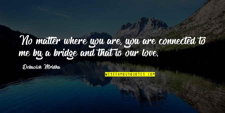 Desolute Quotes By Debasish Mridha: No matter where you are, you are connected