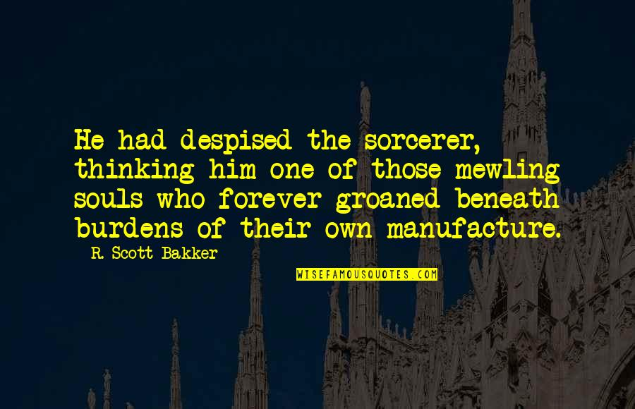 Despised Quotes By R. Scott Bakker: He had despised the sorcerer, thinking him one