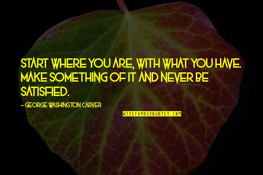 Destiny Grimoire Quotes By George Washington Carver: Start where you are, with what you have.
