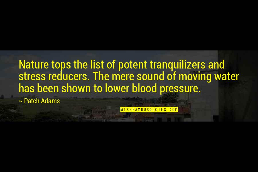 Destruction In Lord Of The Flies Quotes By Patch Adams: Nature tops the list of potent tranquilizers and