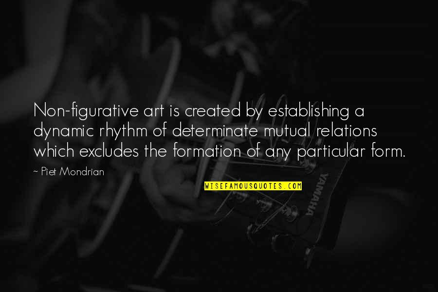 Determinate Quotes By Piet Mondrian: Non-figurative art is created by establishing a dynamic