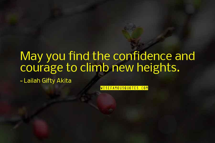 Determination To Success Quotes By Lailah Gifty Akita: May you find the confidence and courage to