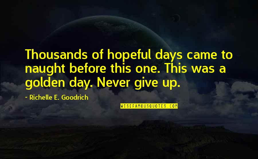 Determination To Success Quotes By Richelle E. Goodrich: Thousands of hopeful days came to naught before