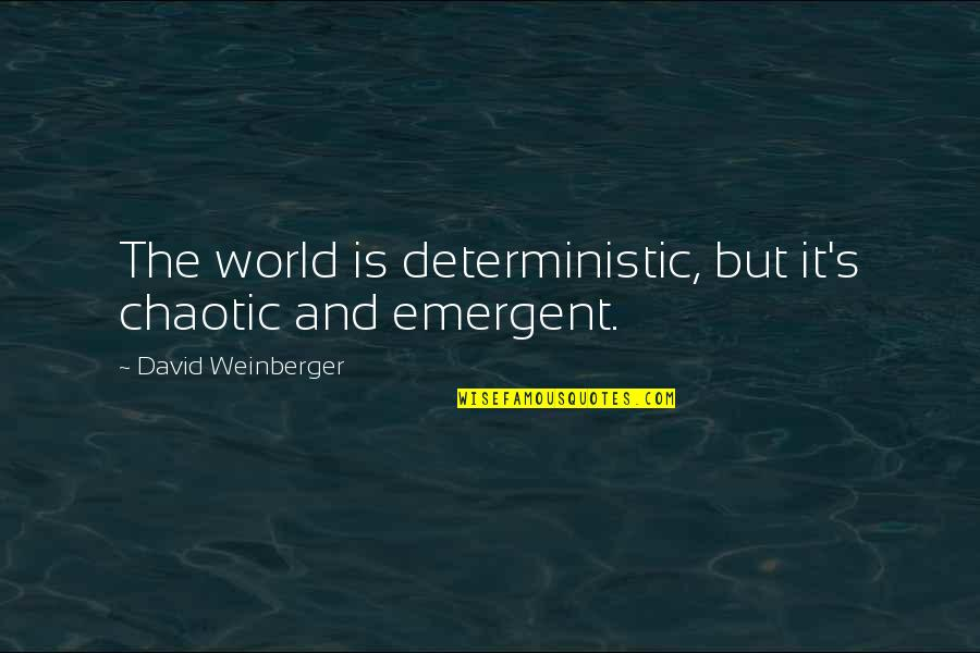 Deterministic Quotes By David Weinberger: The world is deterministic, but it's chaotic and