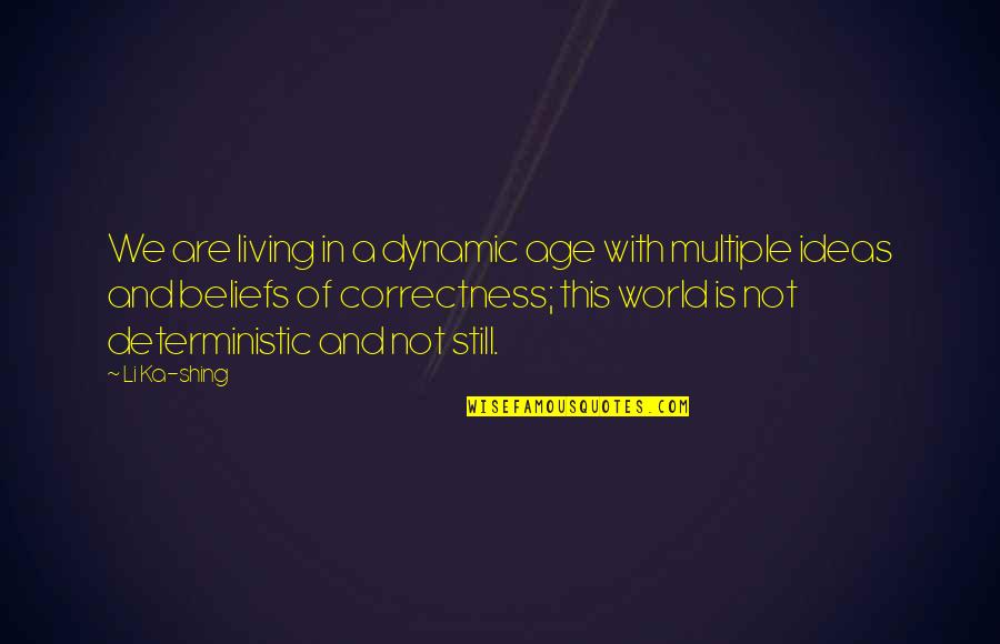 Deterministic Quotes By Li Ka-shing: We are living in a dynamic age with