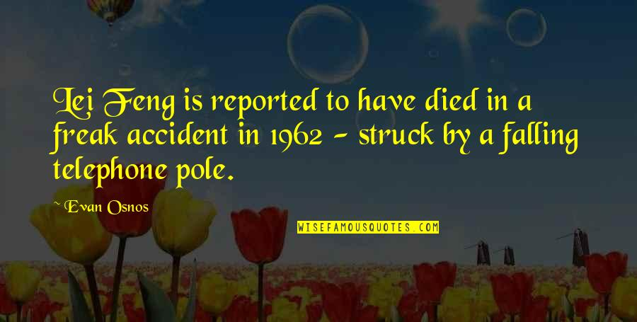 Detoxing Your Life Quotes By Evan Osnos: Lei Feng is reported to have died in
