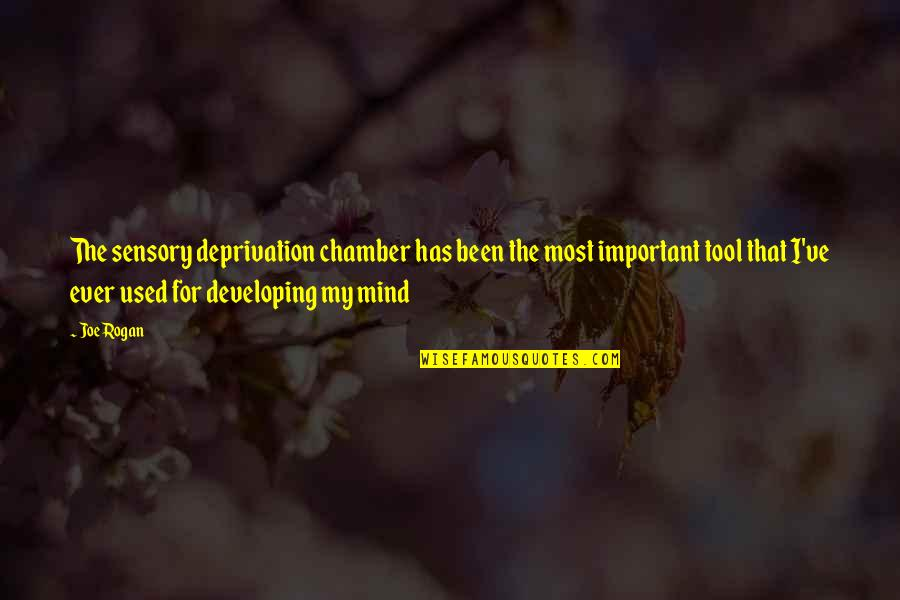 Developing Mind Quotes By Joe Rogan: The sensory deprivation chamber has been the most