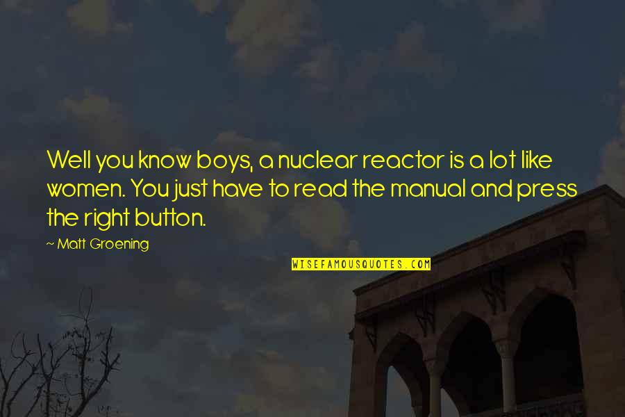 Developmental Psychologist Quotes By Matt Groening: Well you know boys, a nuclear reactor is