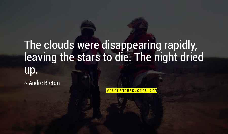 Df Malan Quotes By Andre Breton: The clouds were disappearing rapidly, leaving the stars