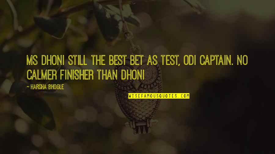Dhoni Captain Quotes By Harsha Bhogle: MS Dhoni still the best bet as Test,