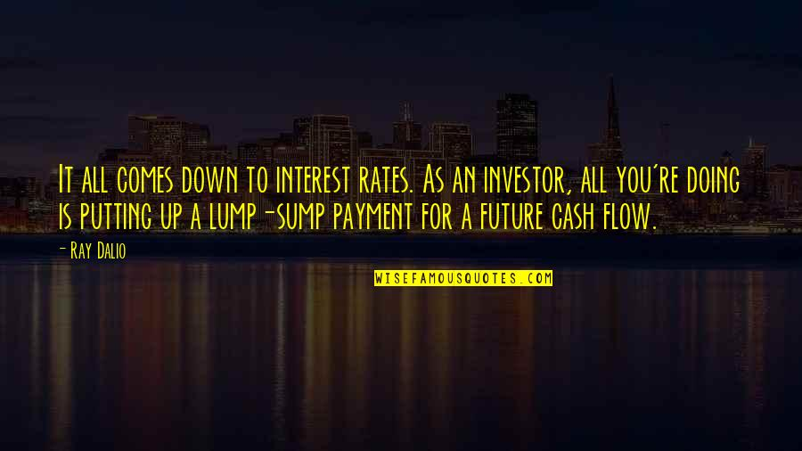 Dhul Hajj Quotes By Ray Dalio: It all comes down to interest rates. As