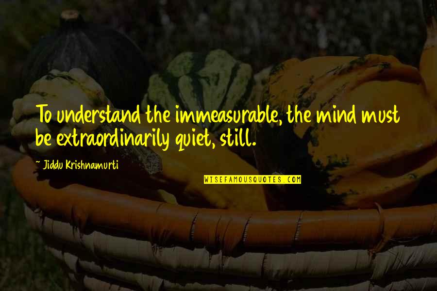 Diablo 2 Fallen Quotes By Jiddu Krishnamurti: To understand the immeasurable, the mind must be