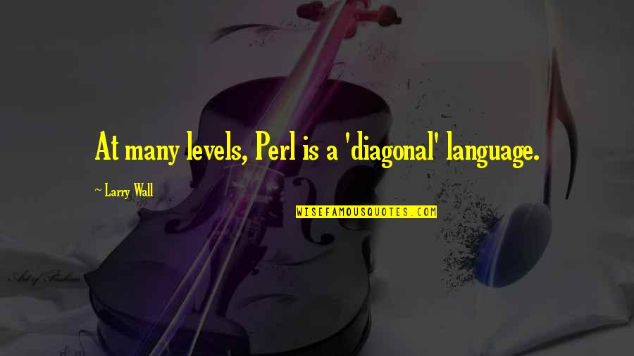 Diagonal Quotes By Larry Wall: At many levels, Perl is a 'diagonal' language.