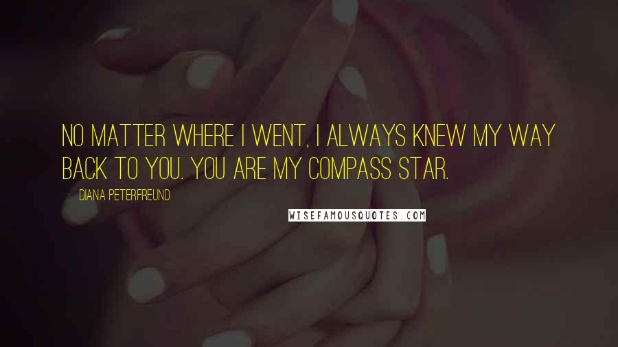 Diana Peterfreund quotes: No matter where I went, I always knew my way back to you. You are my compass star.