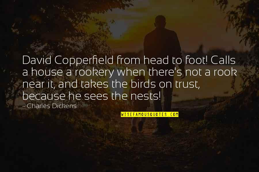 Dickens's Quotes By Charles Dickens: David Copperfield from head to foot! Calls a