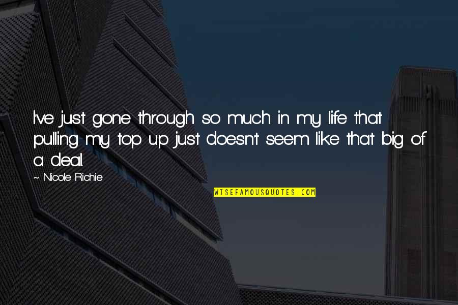 Diddums Quotes By Nicole Richie: I've just gone through so much in my
