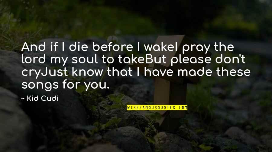 Die Before You Die Quotes By Kid Cudi: And if I die before I wakeI pray