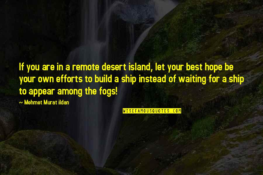 Different Kinds Of Friendship Quotes By Mehmet Murat Ildan: If you are in a remote desert island,