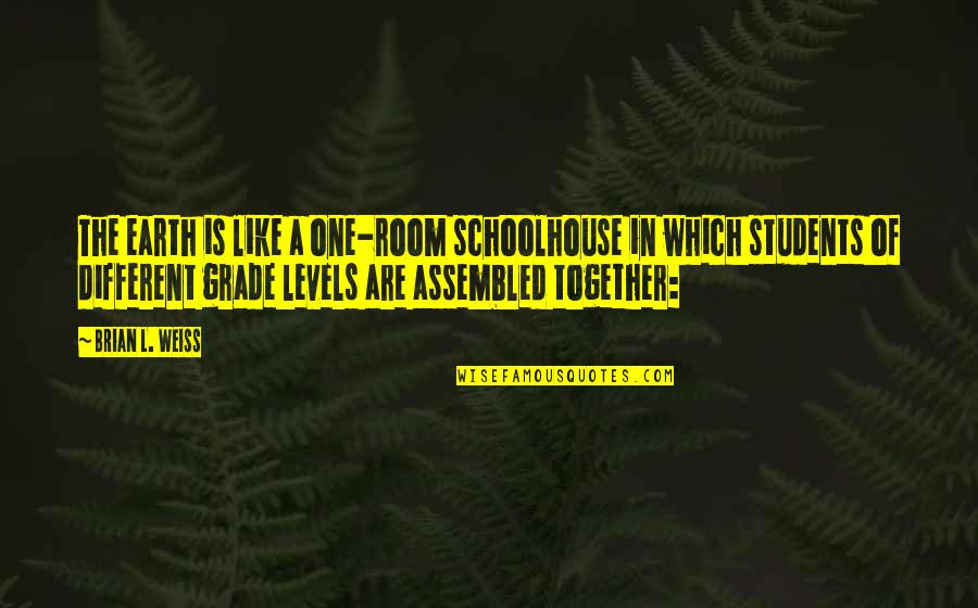 Different Levels Quotes By Brian L. Weiss: The earth is like a one-room schoolhouse in